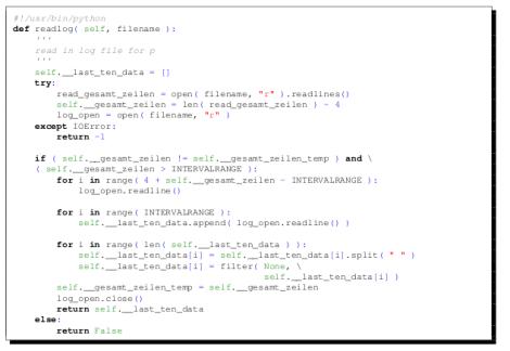 Code highligting in Latex
